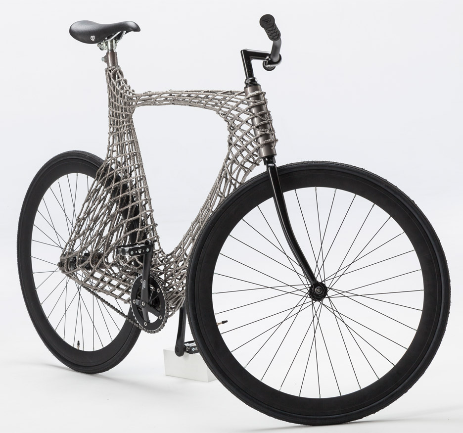 3D printed steel arc bicycle from MX3D TU Delft