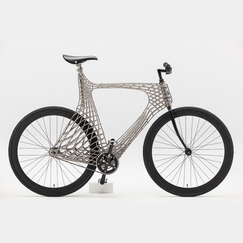 3D printed steel bike from MX3D TU Delft