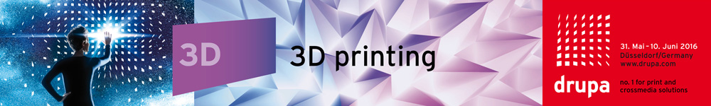 3D printing featured at Drupa 2016
