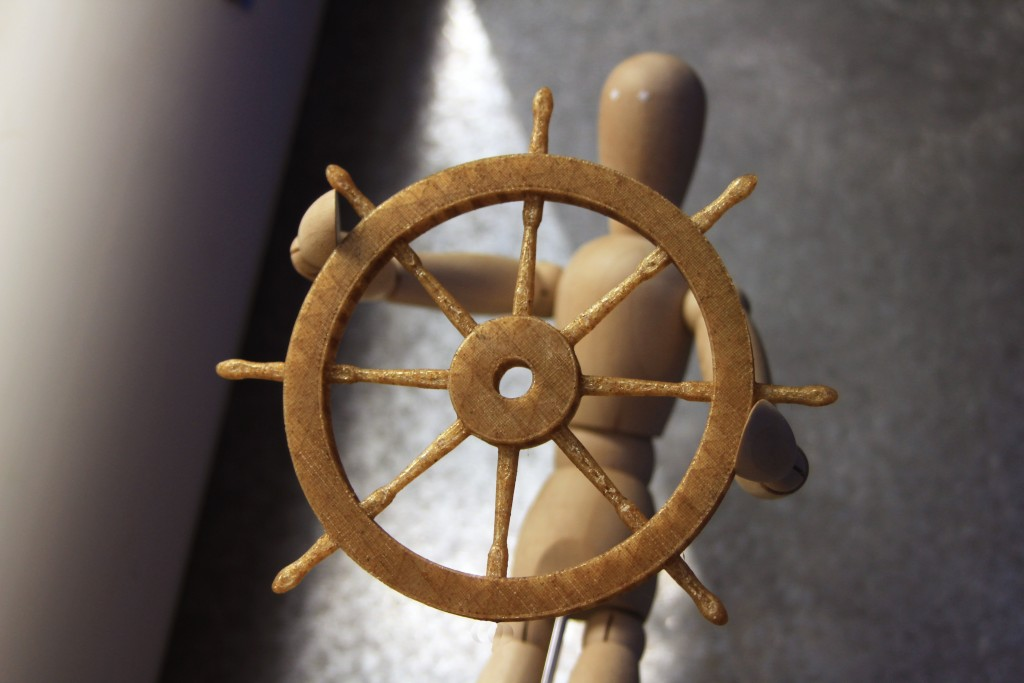 Ship steering wheel in Entwined
