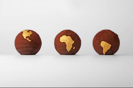 Fig. 5. Chocolate globes 3D printed by TNO company. Courtesy of TNO.