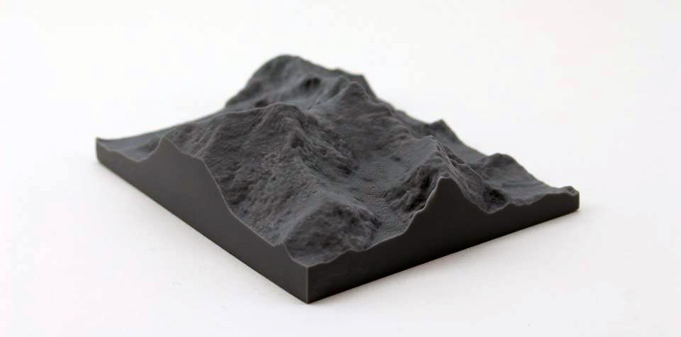 High resolution 3D print of Mount Everest