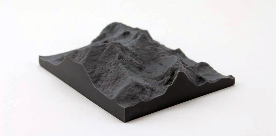 High resolution 3D print of Mount Everest