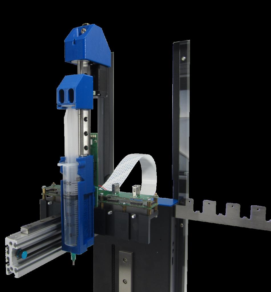 Hyrel Syringe Delivery System (SDS) bioprinting extruder for 3D printing