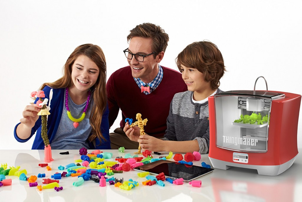 family with ThingMaker 3D Printer from Mattel and Autodesk