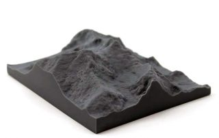 feature High resolution 3D print of Mount Everest