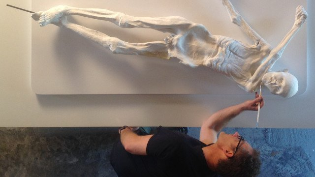 gary staab painting 3d printed otzi the iceman