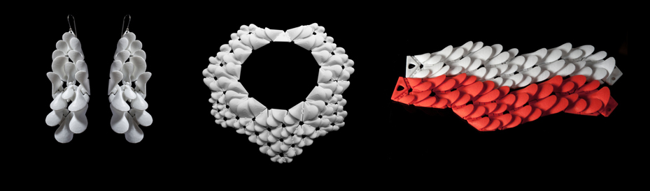 kinematic petals collection 3D printed nervous system
