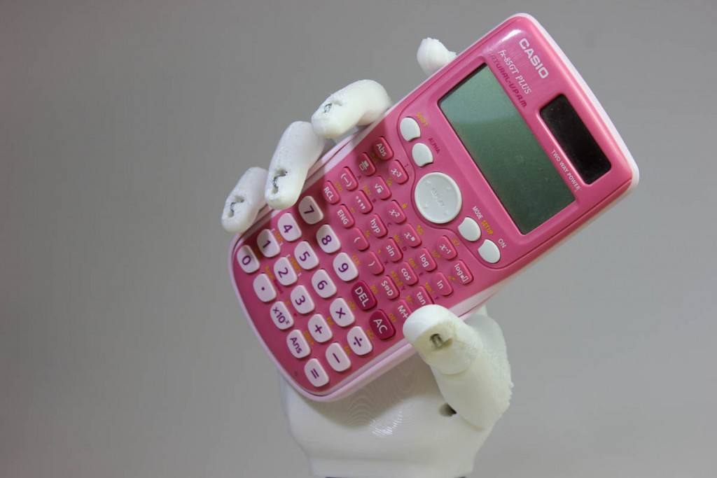 open bionic 3D printed hand ada calculator