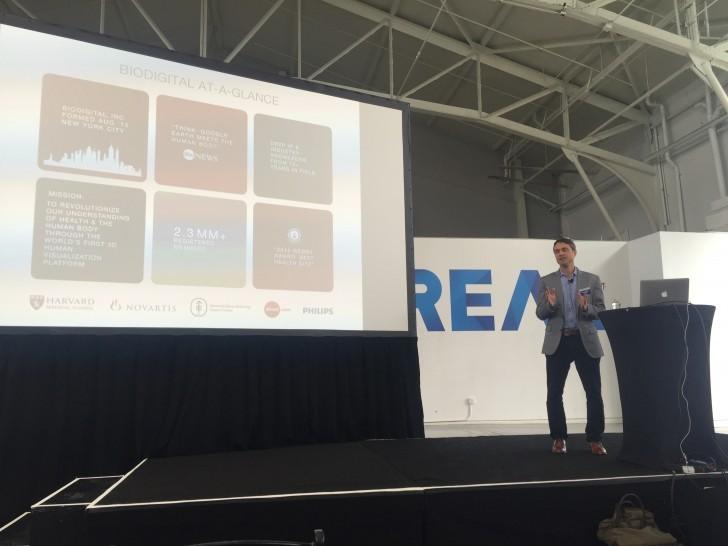 BioDigital's Frank Sculli speaking at REAL 2016
