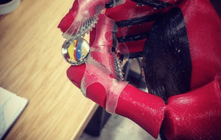 3D printed open bionics prosthetic hand with grips