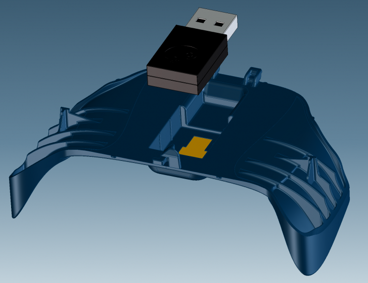 The Wireless USB holder design released by Valve