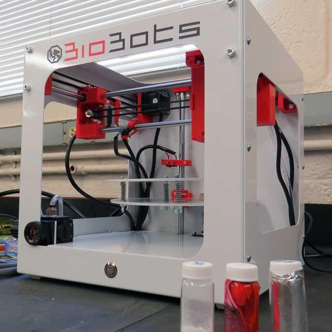The BioBot 3D printer.