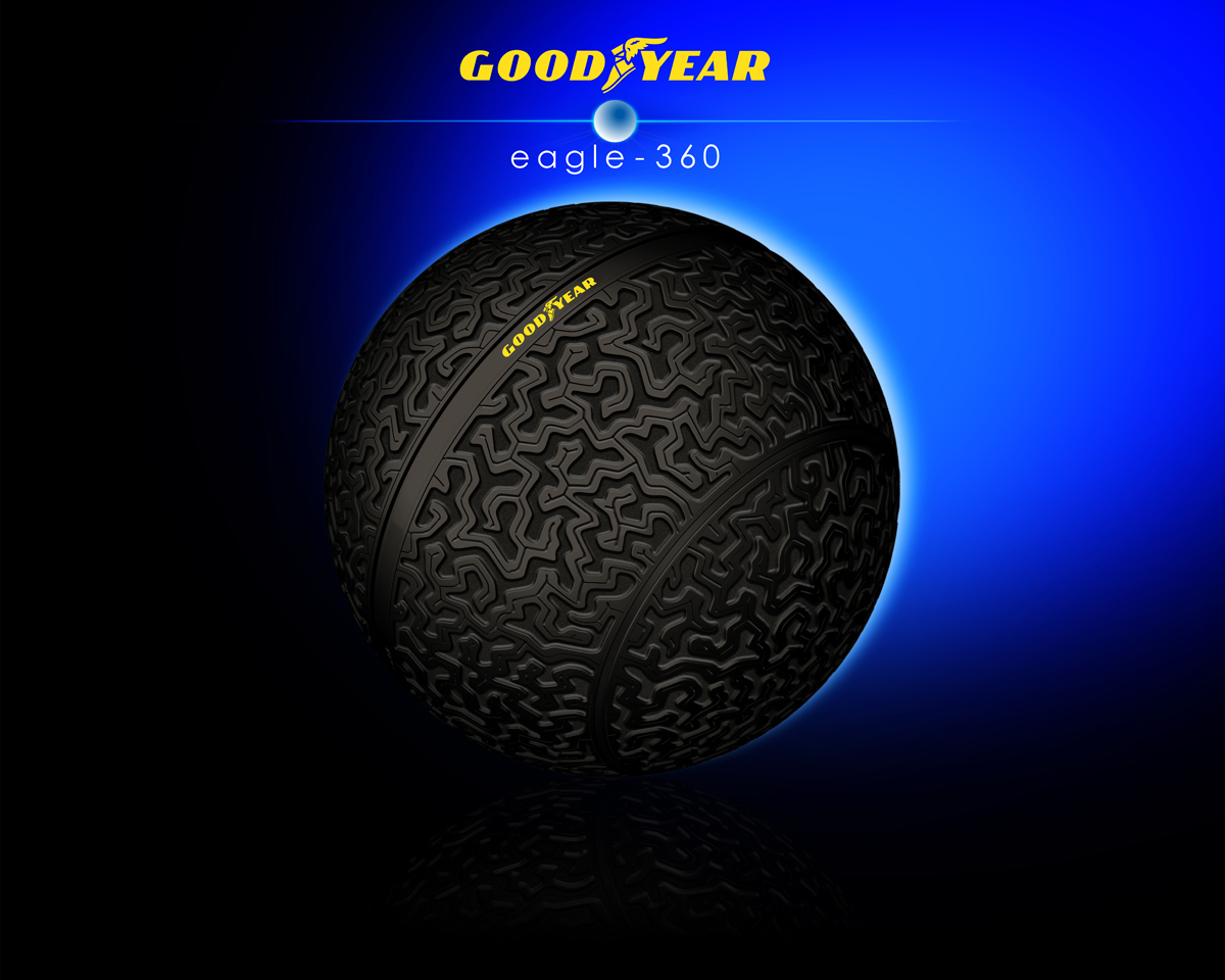 goodyear eagle 360 3D printed concept tire