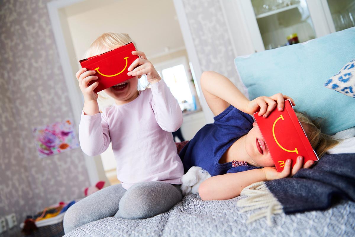 mcdonald's VR happy goggles