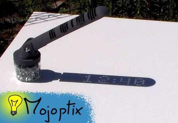 mojoptix 3D printed digital sundial