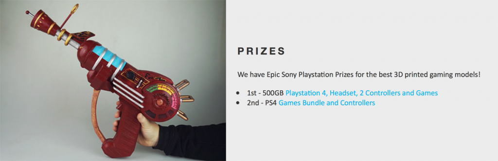 myminifactory playstation 3D printing contest
