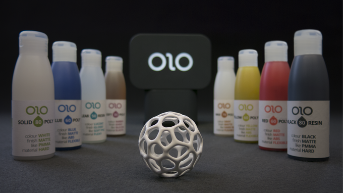 olo smartphone 3D printer with resins