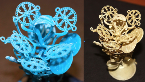 Casting 3D Prints into precious metals like Silver and Gold