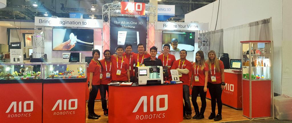 AIO Robotics team at CES 2016