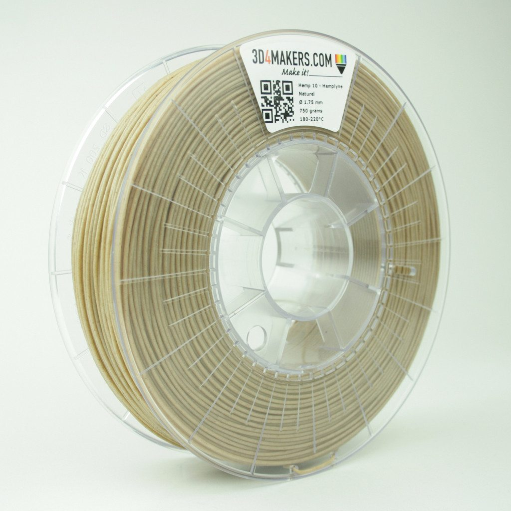 Bioplastic Hemp Filament for 3D-printing biodegradable, compostable and biobased 3D-objects