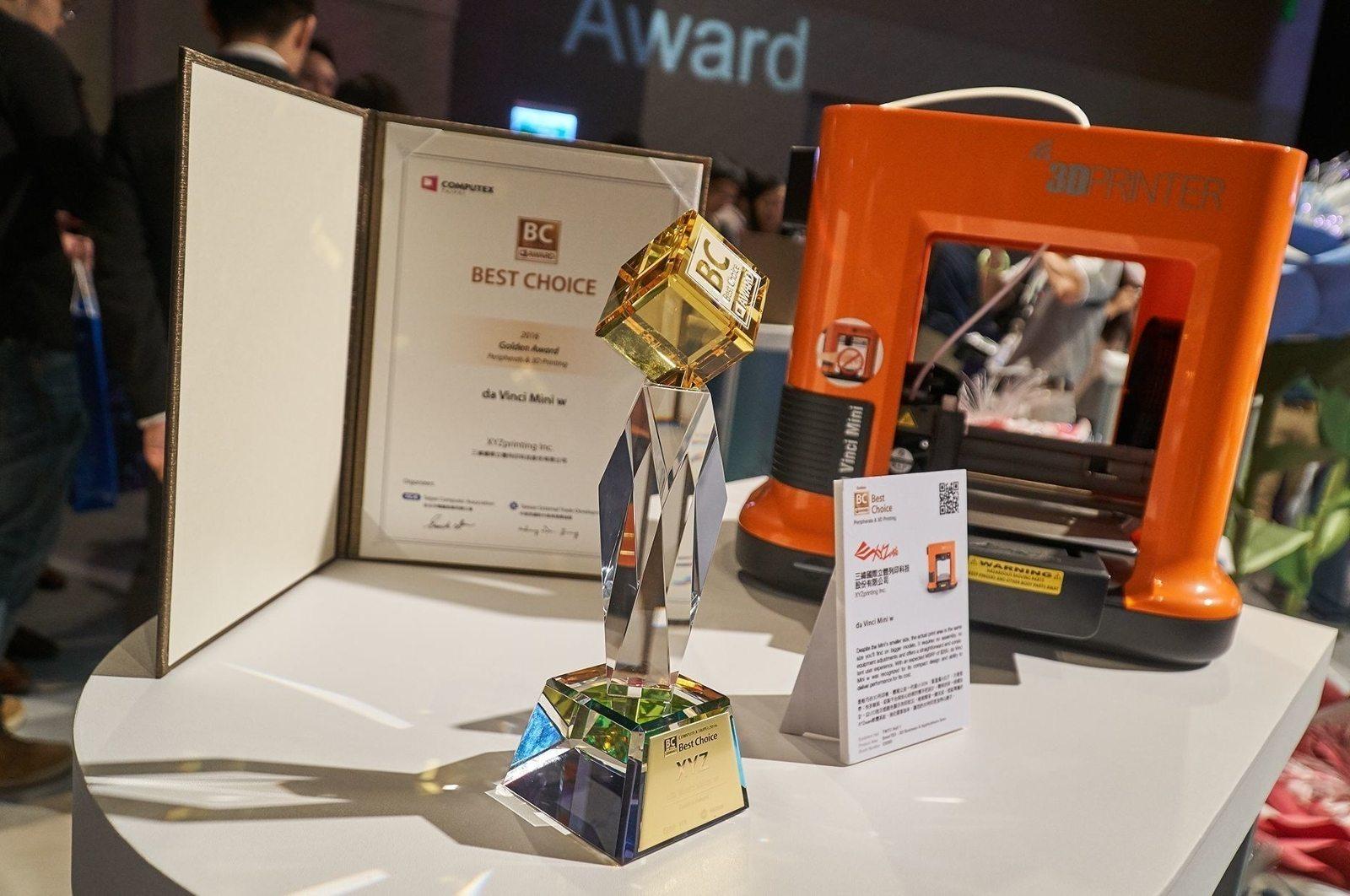 Best Choice Golden Award for XYZprinting! - 3D Printing Industry