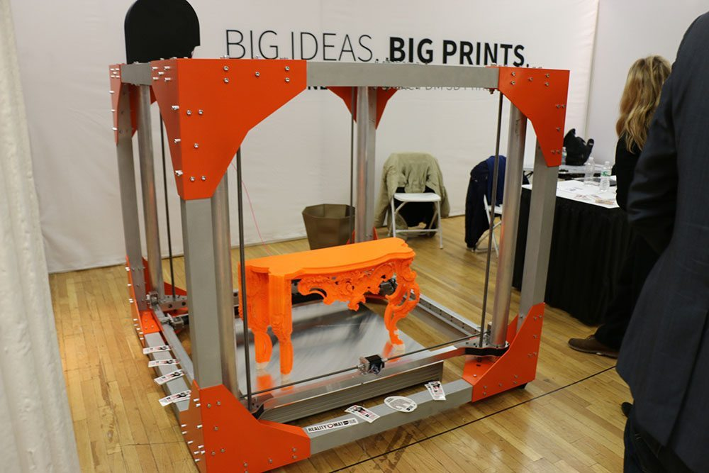 Custom 3D printed furniture in bright orange? Why not with a FabStore?