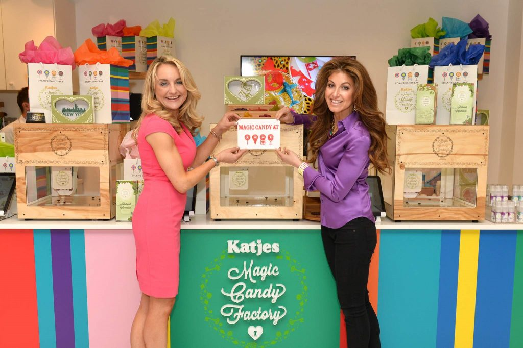 """""""NEW YORK, NY - MAY 19: Melissa Snover (L) and Dylan Lauren attend Dylan's Candy Bar exclusively launches first 3D printed candy in the U.S. with Katjes Magic Candy Factory on May 19, 2016 in New York, New York. (Photo by Andrew Toth/Getty Images for Dylan's Candy Bar)"""""""