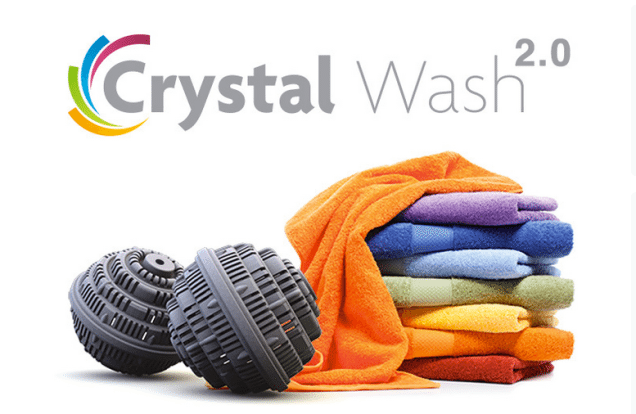 Crystal wash does not work, you cannot shrink water molecules and you still need washing powder