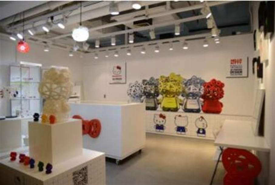 hello kitty opens shanghai 3d center 3d printing industry. Black Bedroom Furniture Sets. Home Design Ideas