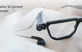 Parsee glasses with spoken word for the blind