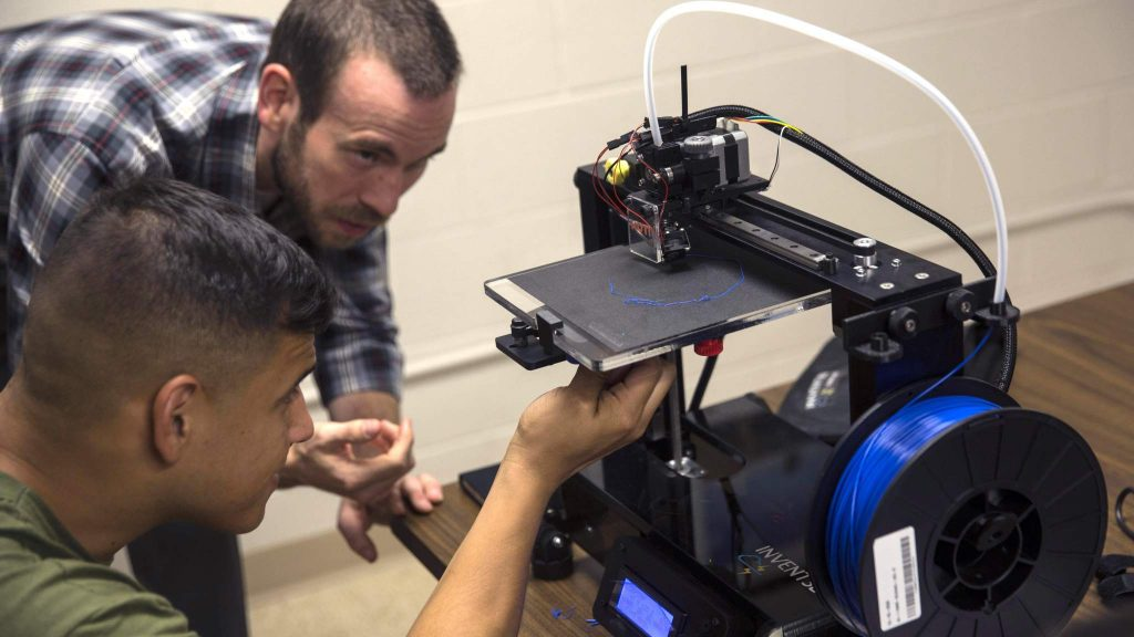 Printing out the future: Marines learn the benefits of 3D printing