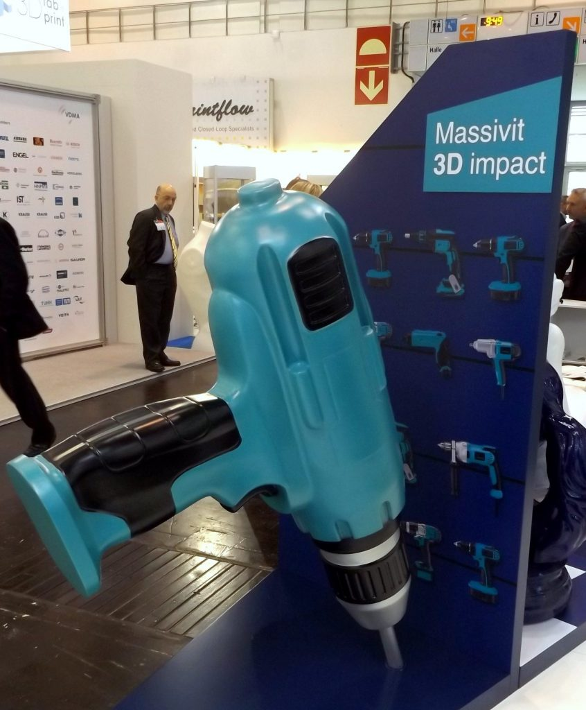 A drill produced on the Massivit 1800 printer
