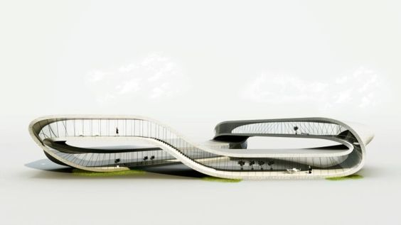 Landscape House, 3D Printed Mobius House