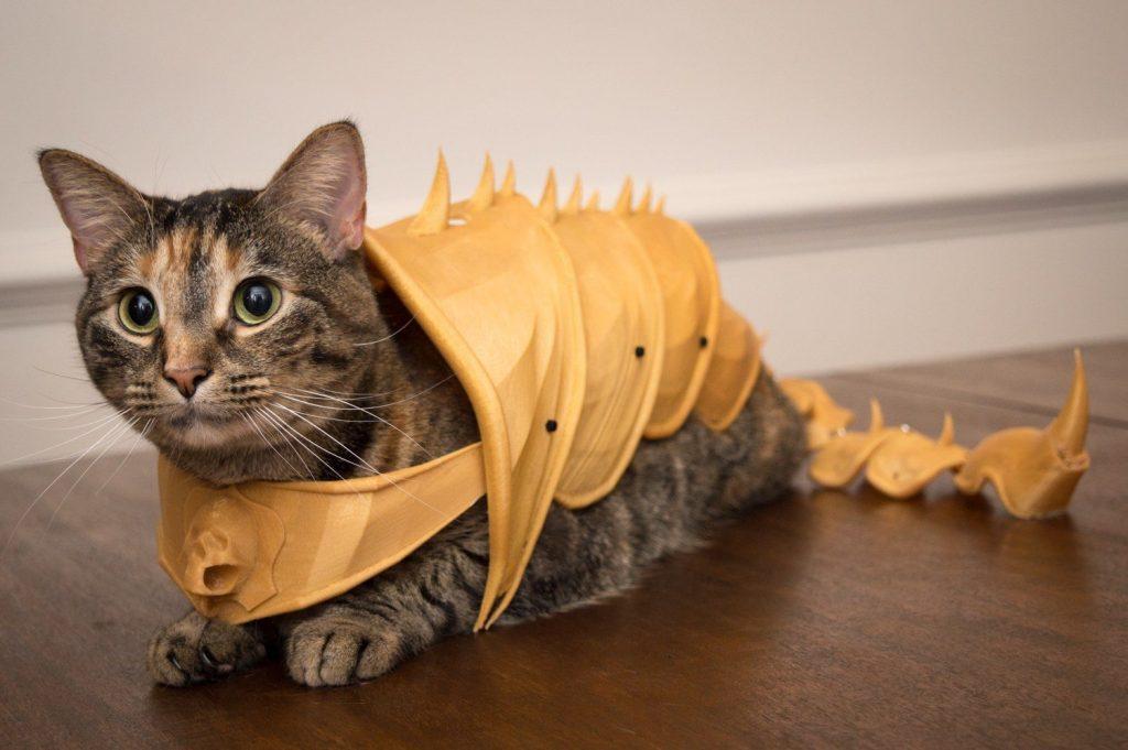 cat armor 3d printed