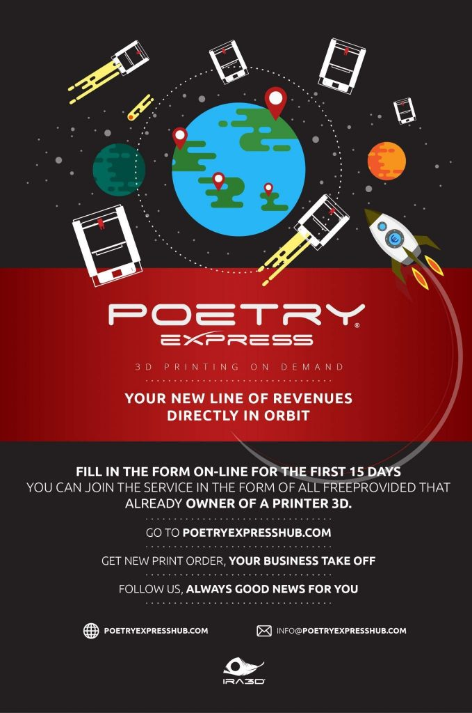 Poetry Express, the Uber of 3D printing?