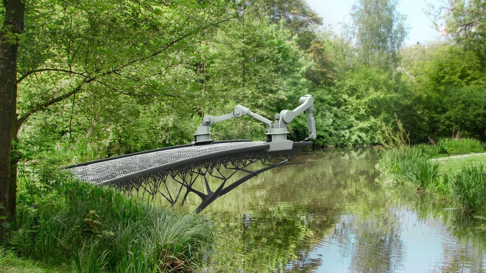 A 3D printed bridge over a canal, a bigger challenge than it sounds