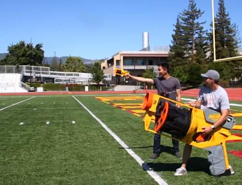Giant NERF gun gets 3D printed projectile