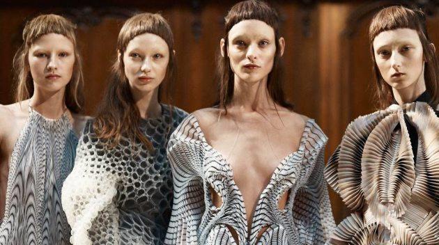 Designer Iris van Herpen has pioneered the use of 3D printing in couture style   Photo: Molly SJ Lowe