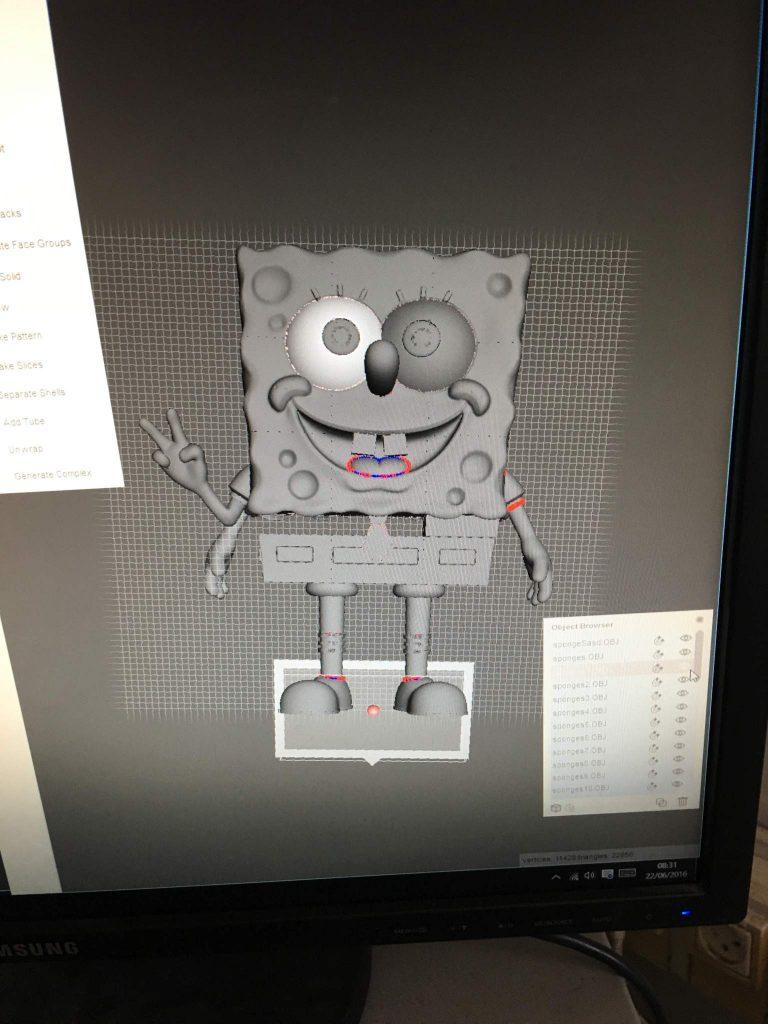3DShook 3d printing spongebob 3