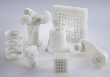 Components 3D printed from Evonik VESTOSINT powder. Photo via Evonik.