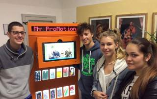 Italian students create a recycling vending machine