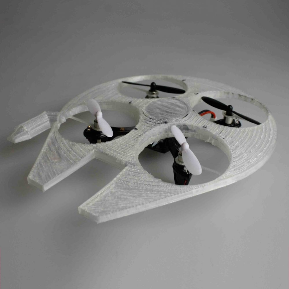 Peaceful image in 3d printable drone