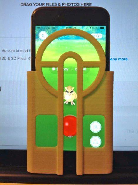 Pokemon Go cheat, a sniper rifle 3D printed phone case