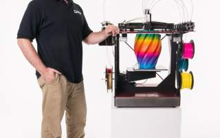 RoVa4D, a large format, full color printer. We love the idea and want to see this 3D printer in action