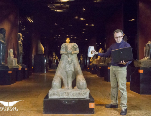 Scanning session in the Egyptian Museum, Turin