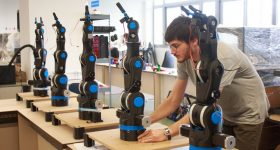 Robotic arms at BCN3D Technologies. Photo via BCN3D