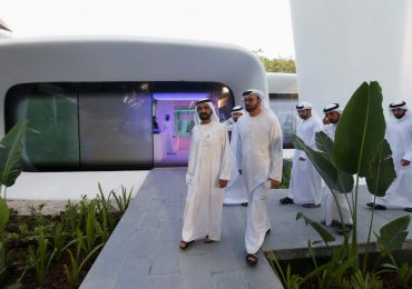 Sheikh Mohammed bin Rashid Al Maktoum, Vice-President and Prime Minister of the UAE and Ruler of Dubai, at the Dubai Future Foundation office - the first functional 3D printed offices in Dubai. Photo via: REUTERS/Ahmed Jadallah