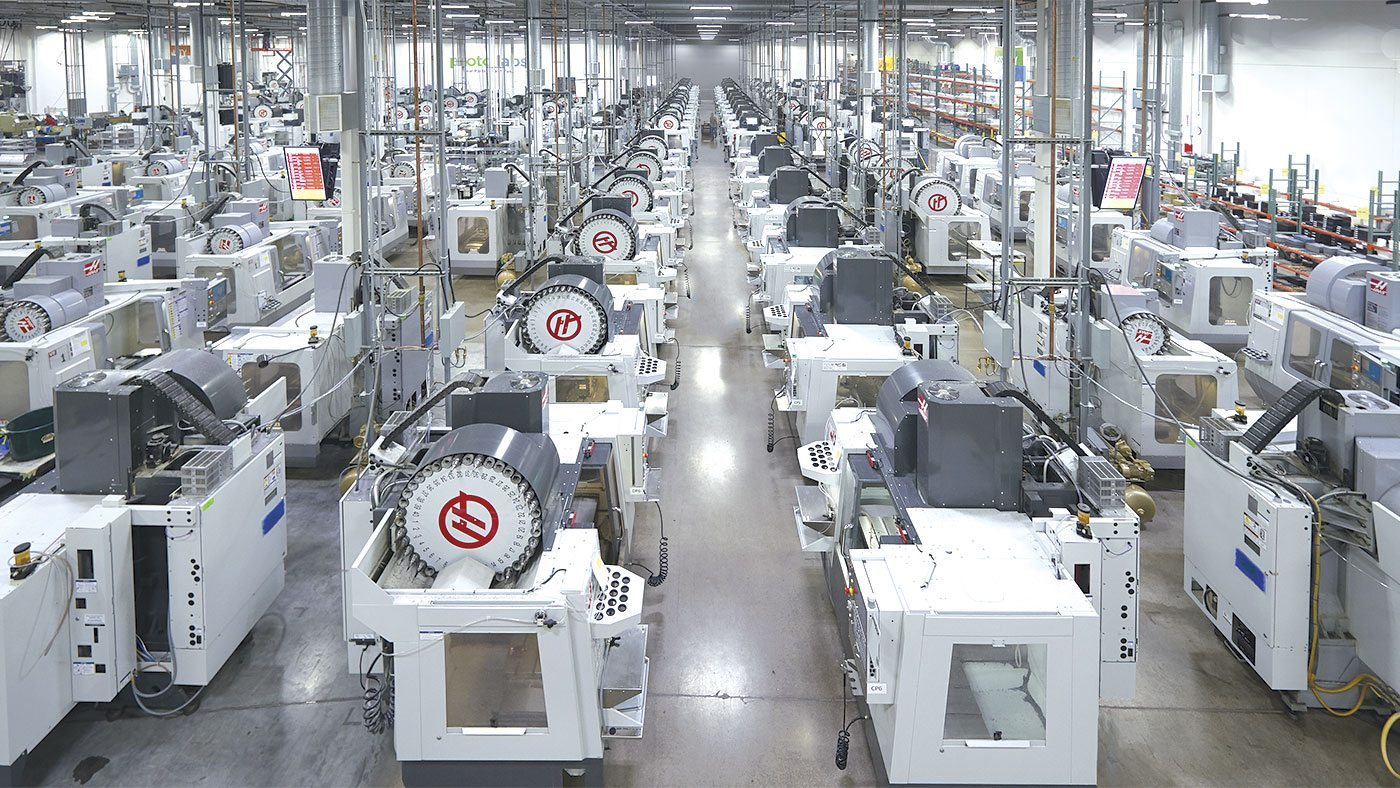 Inside a Protolabs manufacturing facility. Photo via Protolabs