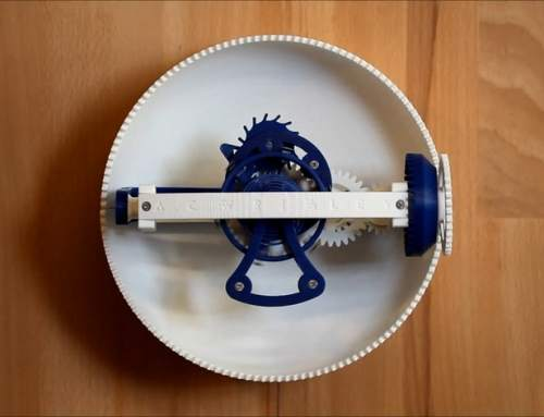 3D print your own accurate time keeping clock